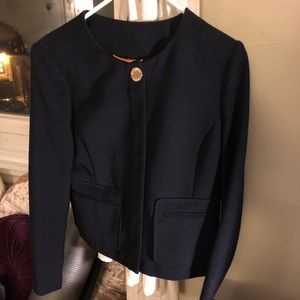Navy blue Tory Burch coat size 6